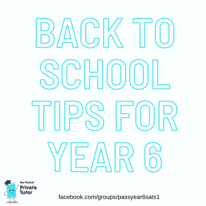 Back to school Year 6